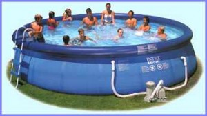 An Intex 18ft Easy Set Pool